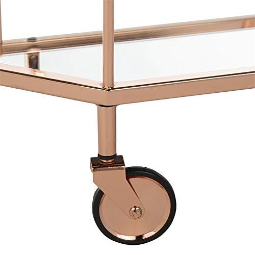 Safavieh BCT8004A Silva Bar Cart, Rose Gold/Mirror by Safavieh (Image #5)