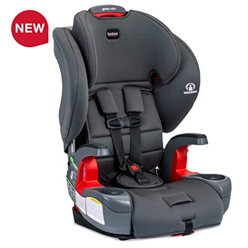 Britax USA Grow with You Harness-2-Booster Car Seat - 2 Layer Impact Protection - 25 to 120 Pounds, Pebble [Newer Version of Pioneer]
