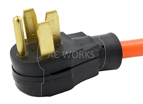 AC WORKS [S1450L1430-018] 1.5FT STW 10/4 NEMA 14-50P 50Amp RV/Range/Generator Plug to L14-30R 4-Prong 30Amp Generator Locking Female Connector by AC WORKS (Image #2)