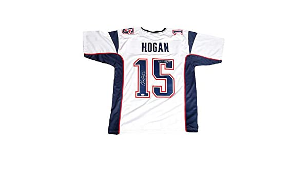 sale retailer 3b981 b62fd Chris Hogan New England Patriots Signed Autographed Away ...
