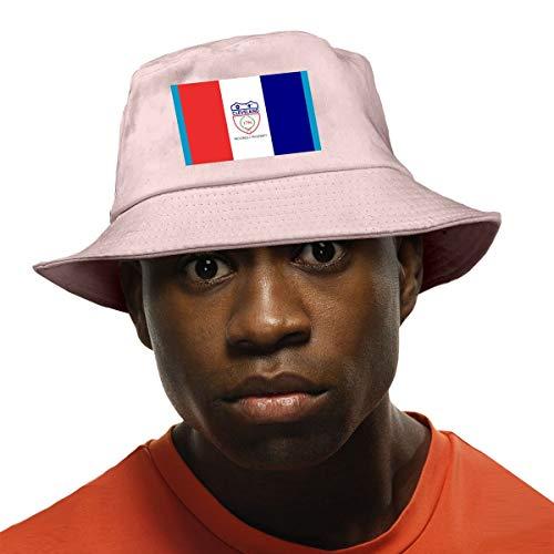 (Yubb7E Flag of Cleveland Unisex Fisherman Cap Fashion Funny Bucket Hat Pink)