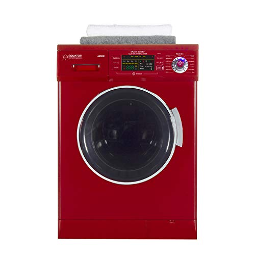 Equator 24 inch Compact New Version All-in-One Combo Washer-Dryer, Vented or Ventless, 1200 RPM, Auto Water, Auto Dry, Winterize, Quiet, Fully Digital in Merlot, 2019 Model ()