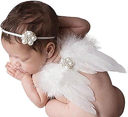 GDRAVEN Cinta con alas de ángel para bebé 0-6 Meses, para ...