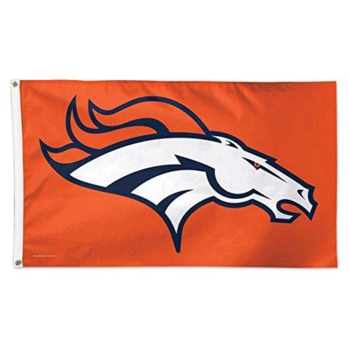 WinCraft NFL Denver Broncos Deluxe Flag, 3' x 5'