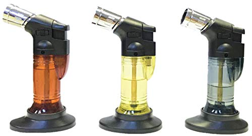 (Triple Jet Flame Cigarette Cigar Lighter Table Torch, Removable Stand, 2ct, 1858)