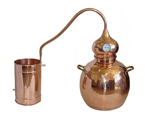 Copper Alembic Still, for Whiskey, Essential Oils, Water, etc.