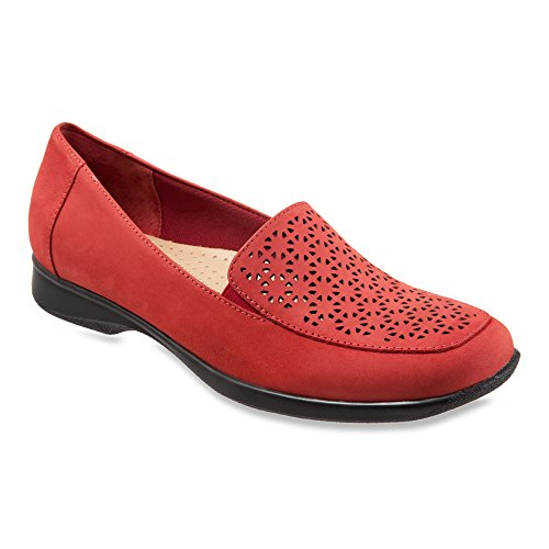 Trotters Women's Jenn Mini Loafer Red Nubuck
