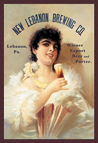 New Lebanon Brewing Wiener Export Beer and Porter 32x48-inch Wall ()