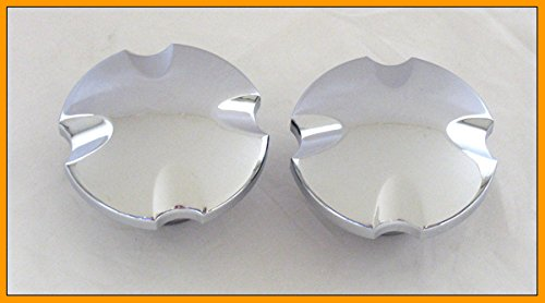 Chrome Billet Maltese - Chrome Billet Maltese Cross Gas Cap Set For Mid 1996 thru 2009 Most Harley Models (Pair)