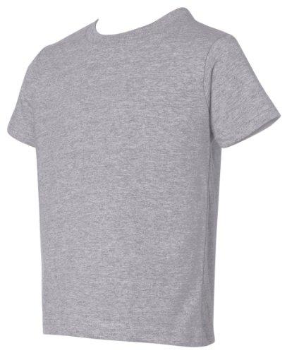 Juvy Heather T-shirt - Rabbit Skins Juvy Short Sleeve Cotton Tee Shirt, 7, Heather