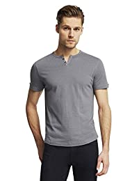 Kenneth Cole Reaction Mens Striped Short Sleeves Henley Shirt
