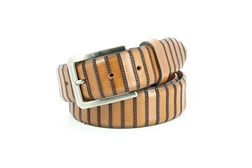 Tulliani Embossed Belt (Remo Tulliani Men's 35mm Wide Dara Italian Leather Dress)