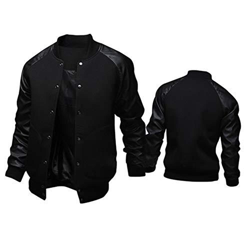 TOP Fighting Coat for Men, Mens Fashion Casual Windbreaker Outdoor Sportswear Lightweight Bomber Jackets (Black/XXXX-Large)