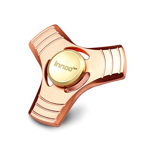 Fidget Spinner | Innoo Tech Hands Spinner Figit Spinner | Red Coppers | Spin 5-7 Minutes | Triangle Whirlwind | Rose Gold | ADD, ADHD Focus Anxiety Relief Toys