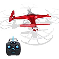 Hohaski JJRC H97 RC Quadcopter | 2.4GHz, 4CH 6-Axis, LED,with Camera Mini Drone (Red)
