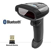 NETUM Bluetooth sans Fil Barcode Scanner Lecteurs de Codes Barres Bluetooth USB Douchette Bluetooth Compatible pour POS PC Portable iPhone iPad téléphones Android et tablettes NT-1698LY