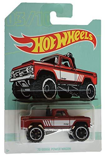 Hot Wheels red '70 Dodge Power Wagon 3/10