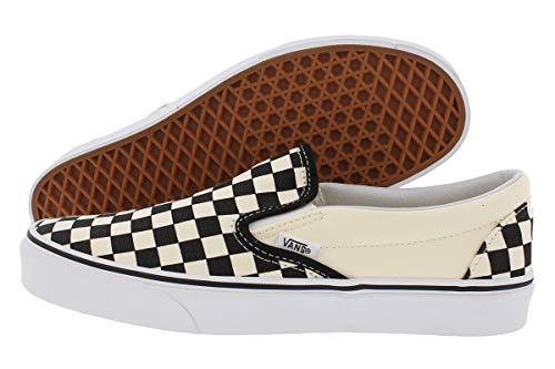 Vans Unisex Classic Checkerboard Black/White Checker/White Slip-On - 8.5 ()