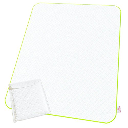 Changing Pad - Reinforced Seams of Changing Pad - Reusable Portable Changing Mat - Large Size - Diaper Change Mat White Color - Multi-Function Storage Bag