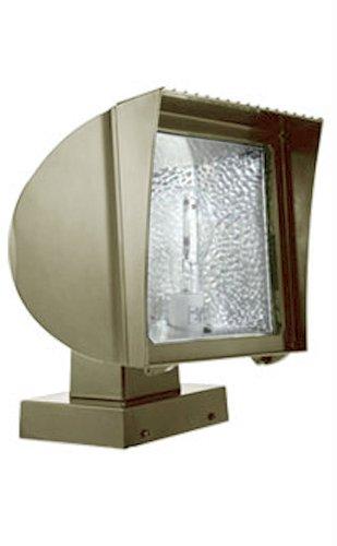 RAB FXH125XPSQ Flexflood 125W, Metal Halide Psqt HPF Pulse Start Wall Mount + Lamp, Bronze Color