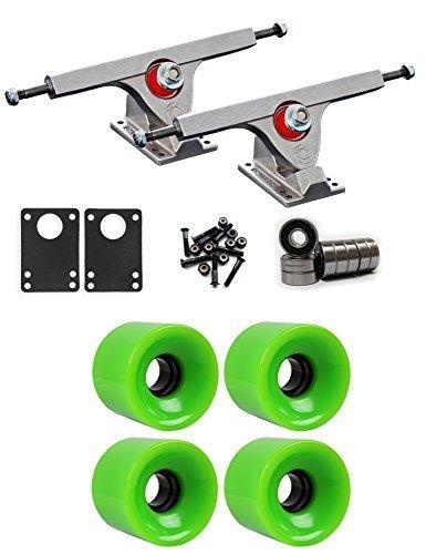 Caliber Raw Longboardトラックホイールパッケージ62 mm x 51.5 MM 83 A 375 Cグリーン [並行輸入品]   B078WW48R8