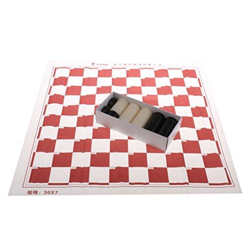 Baosity ポータブル プラスチック 国際チェッカー ドラフトセット の商品画像