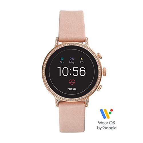 Fossil Women's Gen 4 Venture HR Heart Rate Stainless Steel and Leather Touchscreen Smartwatch, Color: Rose Gold, Pink (Model: FTW6015) (Best Fossil Watches For Women)
