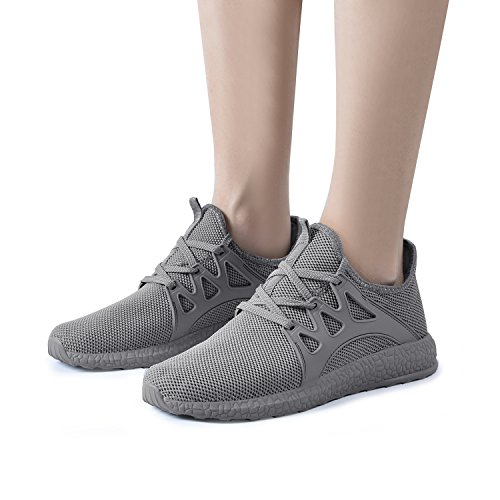 Athletic Running QANSI Womens Shoes Tennis Casual Sneakers Grey PztwUz
