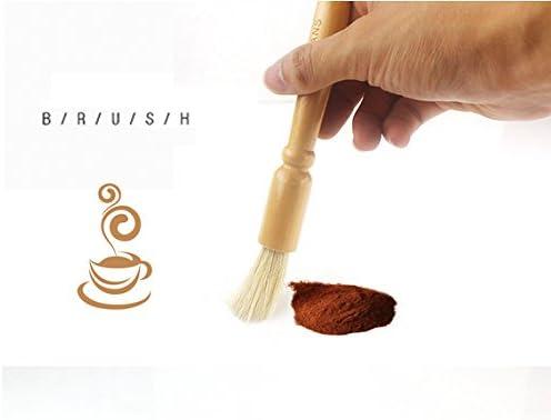 Timagebreze Limpiador de Cepillo para M/áQuina de Caf/é de 58 Mm Cafetera Cepillos Redondos para Limpieza de Cabezales del Grupo Espresso Herramientas de Limpieza de Molinillo de Barista