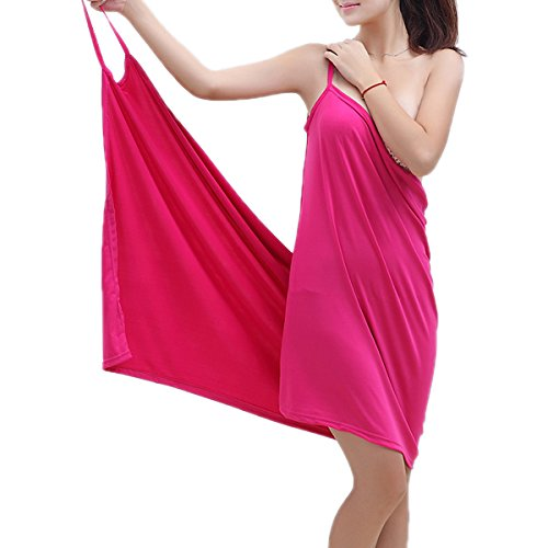 Beach Towel Wrap, Gracosy Summer Ice Silk Soft Wearable Deep V Sexy Beach Dress Robe Towel Cover Up for Travel Spa Swimming Sport for Girl Ladies 55'' x 29'' Rose 55