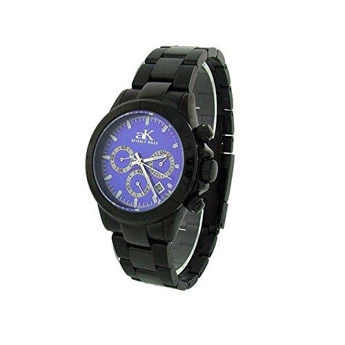 Adee Kaye Blue Men's Stainless Steel Chronograph Watch (Kaye Steel Chronograph Mens Watch)