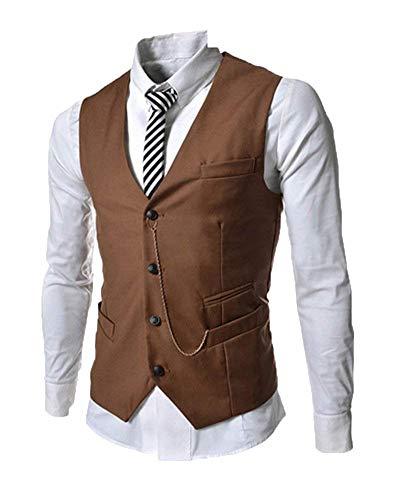 De Hommes Loisirs Mode Décontracté Tailles Vetement Kaki Business Veste Mariage Confortables Base Gilet Pour 6taAxwqd6U