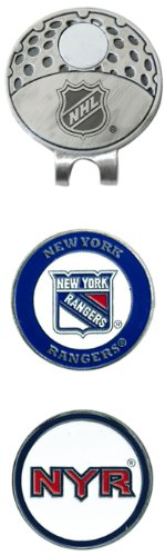 NHL New York Rangers Cap Clip With 2 Golf Ball Markers (Hats Golfing)