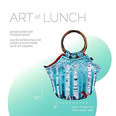 Art of Lunch Large Neoprene Lunch Bag Purse 11