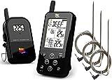 Maverick ET733 Wireless BBQ Thermometer - Black - Includes Extra 6 Ft. Hybrid Probe