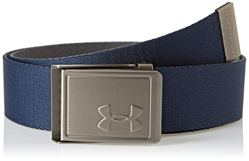 Under Armour Boy's Webbing 2.0 Belt, Academy//Silver, One Size Fits All (Under Armour For Kids)