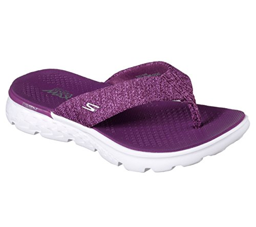 Skechers On The Go 400 Vivacity Womens Flip Flops Purple 7 -3480