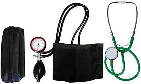 Blutdruckmessgerät Oberarm 2-Schlauch + Stethoskop Flachkopf grün (1 Set = 2 Artikel) Schwesternstetoskop Stetoskop Stetoskope TIGA-MED