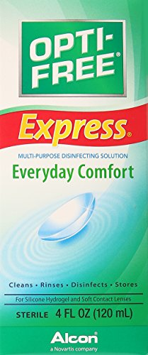 Opti-Free Express Multi-Purpose Disinfecting Solution, Lasting Comfort No Rub Formula, 4 oz