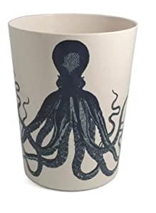 bathroom wastebasket. Bathroom Wastebasket Decorative Plastic Nautical Decor Octopus Amazon com