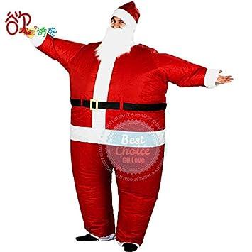Amazon.com: SYH01 2019 - Disfraz de Papá Noel inflable en ...
