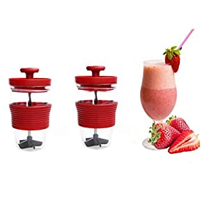 DZT1968 Creative Manual Fruit Juicer Press Juice Outdoor Portable Mixing Cup (red)