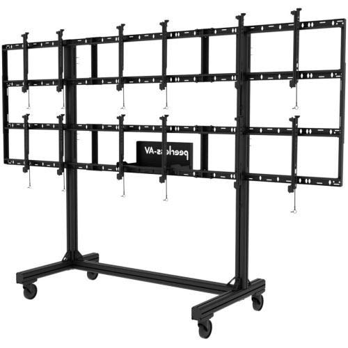 PORTABLE VIDEO WALL CART 2X2 AND 3X2 CONFIGURATION
