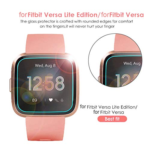 Sinma 3 Pack Tempered Glass Screen Film Protector for Fitbit Versa Lite Smart Watch (Clear) by Sinma Clearance (Image #2)