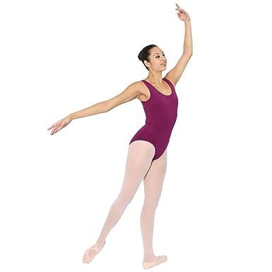 dffe9ba8f5fd Amazon.com  Danzcue Womens Cotton Tank Ballet Cut Leotard  Clothing