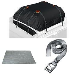 Keeper Cargo Bag, Roof Mat, and Lashing Strap Bundle