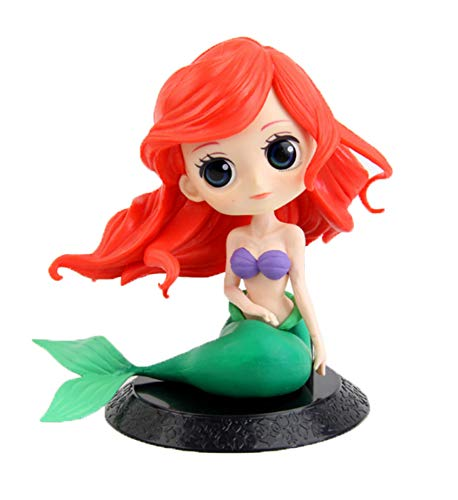 HAPTIME Beautiful Mermaid Doll Cake Topper with Big Eyes, Lifelike Mermaid Figure Party Decoration for Christmas Birthday Party Mermaid Theme Party -