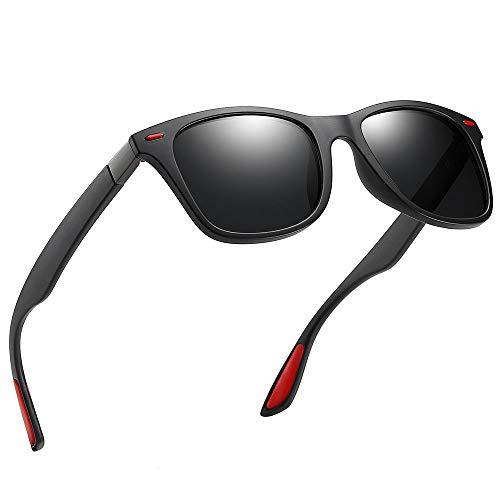 80's Retro Polarized Sunglasses for Men Women Square Sun ()