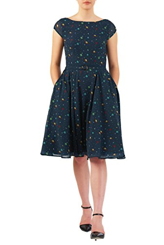 Belted Button Strap Dress - 6