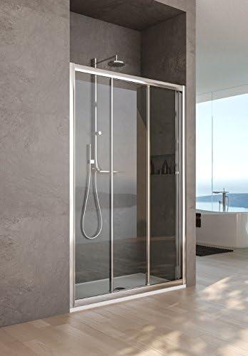 Mampara de ducha con nicho modelo Nara-plata pulido transparente-190-Compribene cm-110 cm: Amazon.es: Bricolaje y herramientas